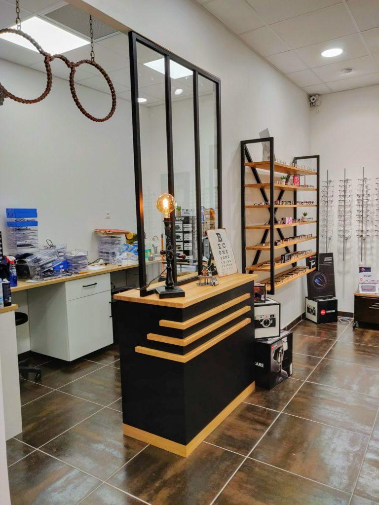 Agencement d'un magasin d'optique