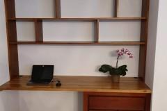 Ensemble bureau bibliothèque en chêne